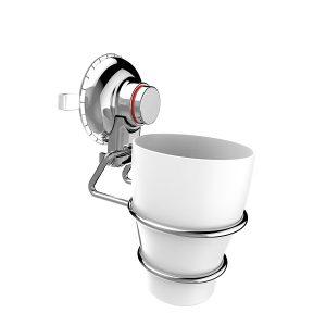 מתלה כוס למברשת שיניים בוואקום ללא קידוח | PUSH2LOCK