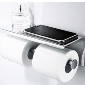 מתלה לנייר טואלט כפול + מעמד לפלאפון / מגבונים - אניספלד מוצרים לבית