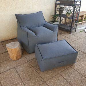 פוף כורסא מדגם – SICILIA – OUTDOOR